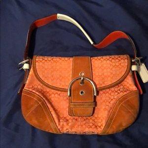 Authentic orange Coach purse
